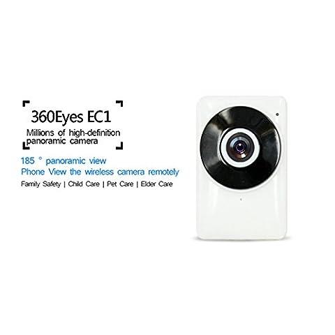 IP Caméras Surveillance Sécurité HD 720P Maison Webcam WiFi Network Caméra avec Vision Nocturne IR, 2 Voies Audio, pour Accès à distance par Smartphone
