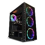 Ordinateur de Bureau AWD-IT Gaming - Processeur AMD Ryzen 5 2600 3.9 GHz • Radeon RX 570 8 Go • 16 Go RAM DDR4 • Disque Dur 1To • Étui RGB • 300mbps WiFi • Windows 10