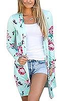 Women Boho Kimono Cardigan Loose Floral Irregular Wrap Kimono Cardigans Casual Coverup Coat Tops Outwear