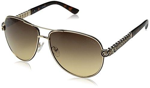 Guess Unisex-Erwachsene GU7404 32F 59 Sonnenbrille, Gold (Oro/Marrone Grad),