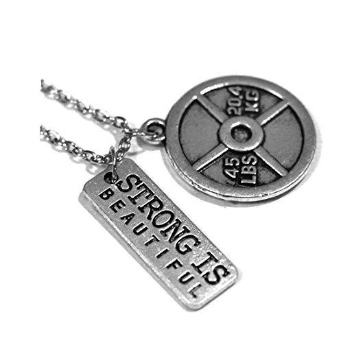 STRONG IS Wunderschöne Halskette mit Hundetrockenfutter Gewicht Teller.