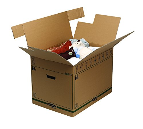 Bankers Box Umzugsbox SmoothMove klein (aus 100% recyceltem Karton, 10er Packung) braun - 11
