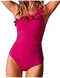 AKAAYUKO Conjunto de Bikini de Las Mujeres Traje de Baño Push-up Monokini