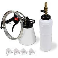 LARS360 – Dispositivo para purgar frenos, aire comprimido, con depósito, manguera y 4 adaptadores