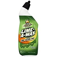 Lime-A-Way Liquid Toilet Bowl Cleaner, 24 fl oz Bottle, Removes Lime Calcium Rust (Pack of 6)