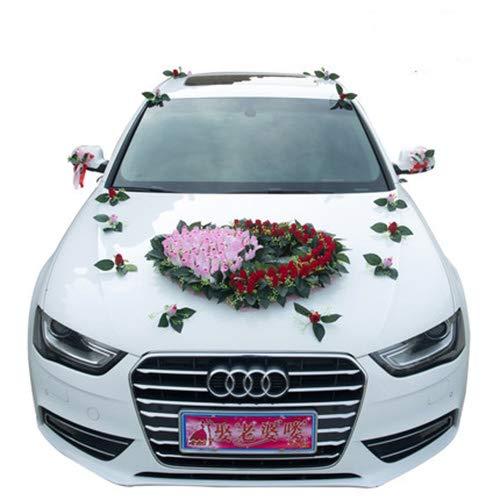 TxDike Lan Auto Hochzeit Dekoration Blume, Wrapping Ribbon Pull Bows Für Hochzeit, Party, Geburtstag, Auto, Urlaub, Geschenke, Taschen, Körbe,Packageone (Blumen Ribbon)