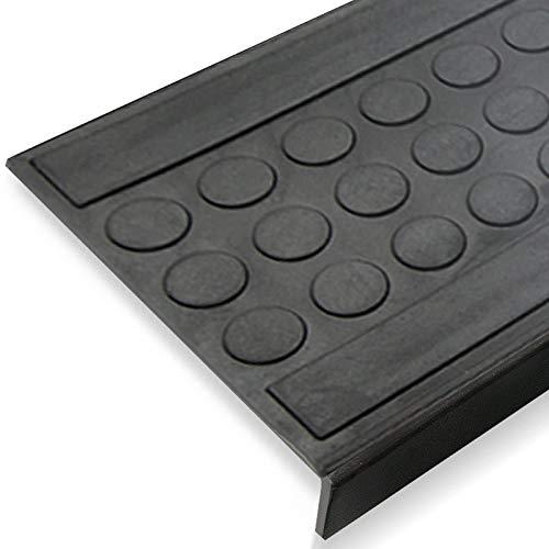 Stufenmatten aus Gummi - 25x65cm - rutschhemmend, für Innen- und Außentreppen - (5er-Vorteilspack)