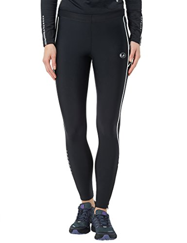 Ultrasport Women's Compression Effect and Quick-Dry-Function Running Pants Long, Black/White, X-Small