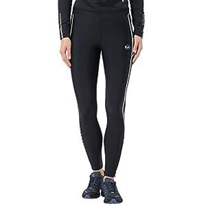 Ultrasport Advanced Damen Sporthose, Laufhose lang, Fitnesshose mit Kompressionswirkung, Quick Dry, Kontrast-/Flachnähte, Reflective Prints, justierbarer Bund und Schlüsseltsche mit Reißverschluss