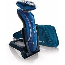 Philips SHAVER Series 7000 SensoTouch RQ1155/81 Máquina de afeitar de rotación Negro, Azul - Afeitadora (Máquina de afeitar de rotación, Negro, Azul, Batería, Ión de litio, 1 h, 3 min)