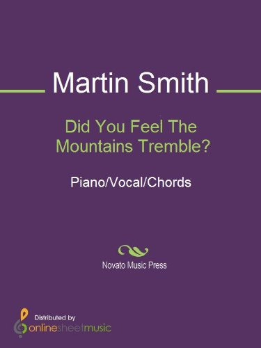 Did You Feel The Mountains Tremble Ebook Delirious Martin Smith