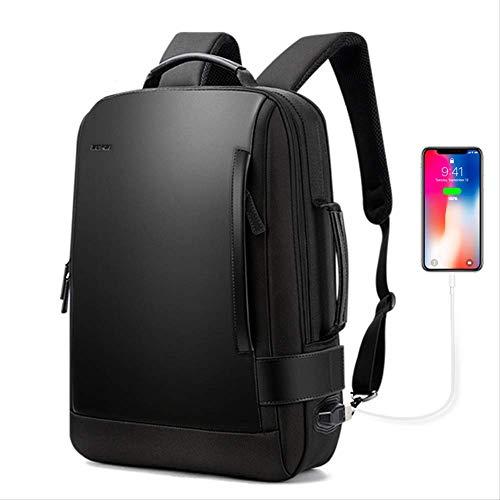 Männer Computer Rucksack Schultaschen wasserdichte Schulrucksäcke Leder Männliche Mode Reiserucksack USB Gebühr