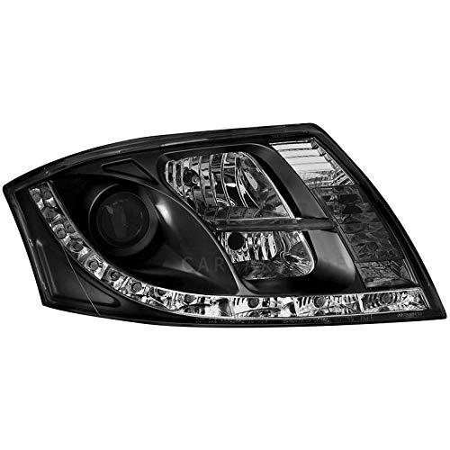 2 x Scheinwerfer für TT 8N Tagfahrlicht black/schwarz