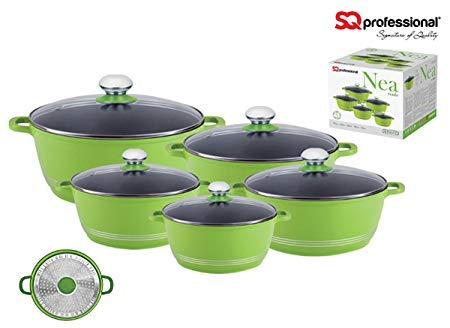 SQ Professional Nea Druckguss creme Auflaufform Set–Violett, Grün oder Orange Grün