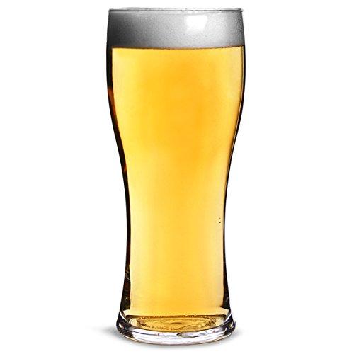 Pilsner Glas Set (Elite Polycarbonat Pilsner Pint-Gläser, CE–SET von 4–Kunststoff Pilsner Gläser)
