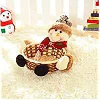 Caomao Canasta de dulces de Navidad canasta de dulces Canasta de dulces cesta de regalo Adornos de Navidad adornos de escritorio suministros (16)