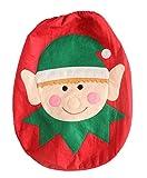 YiyiLai 44*35cm WC Toillete Set Sitzbezug Weihnachtsdeko Toilettendeckelbezug Weihnachten Weihnachtsschmuck Rot