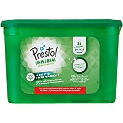 Marque Amazon- Presto! Doses de lessive Universal, 152 Lavages (4 packs de 38 lavages)
