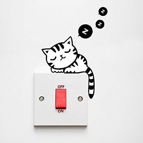 YOKIRIN 10 Pcs Pegatinas para Interruptor de pared Interruptor de Pegatinas Removibles Dibujos Animados Conmutador Pegatinas Pared Decorativo