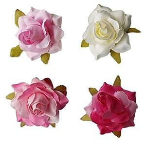 Babysbreath 10pcs Cabeza de Flor de Seda Artificial de Rose para la decoración de la Boda de los Zapatos de DIY Headwear