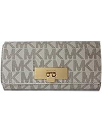 bd53c39971e2 Michael Kors Callie Signature Carryall Wallet (Vanilla   Acorn)