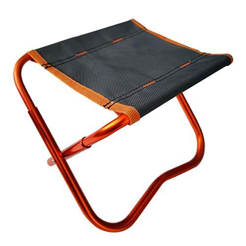 Folding Stool Outdoor Hocker Klappbar, Camping Aluminium Klapphocker Faltbar Campinghocker Kompakt für BBQ/Konzerte/Angeln/Wandern/Garten (24x18.5x19cm) Black