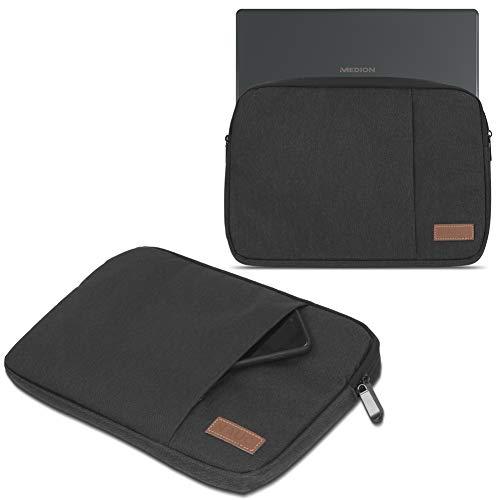UC-Express Medion Akoya E2228T Hülle Tasche Notebook Schutzhülle Schwarz/Grau Cover Case, Farbe:Schwarz
