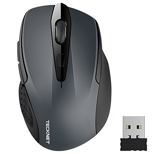 Microsoft Optische Maus-software (Kabellose Maus, TeckNet Pro 2.4G 2600 DPI Wireless Maus 6 Tasten mit Nano Empfänger, 24 Monate Batterielaufzeit, 5 Einstellbare DPI-Pegel für PC Laptop iMac Macbook Microsoft Pro, Office Home)