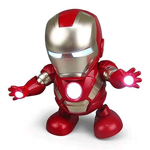 Iron Man Dance Robot Jouets pour Enfants Avengers Jouet ModèLe PVC ÉLectrique Super Play Finger Musique Action Toys Collection Cadeaux pour Enfants Mini Super Hero Toys