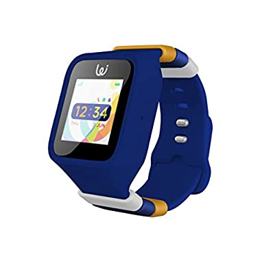 POMO Waffle - Kids GPS Smartwatch with SOS Function, Pedometer, Touch Screen, Phone/Messaging, Precision Locators, and More! Syncs with iPhones and Android Phones (Colour: Midnight Blue)