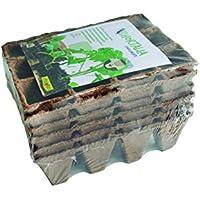 Flower 55044 - Semilleros biodegradables, 12 cavidades, 6 Unidades