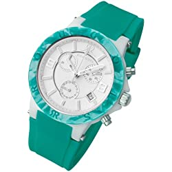 Rougois Pop Series Green Colorful Silicone Band Watch
