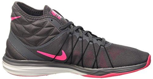 Nike W Dual Fusion Tr Hit Mid, Scarpe da Ginnastica Donna Grigio (Dark Grey/Hyper Pink/Black/White)
