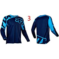 HFJLL Traje de Descenso al Aire Libre - Mountain Bike Motocross Jersey Camiseta de Manga Larga,No.3,XL