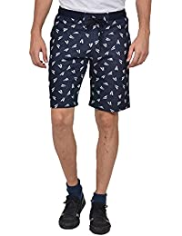 YOO Men's Jacquard Printed Casual Regular Fit Short