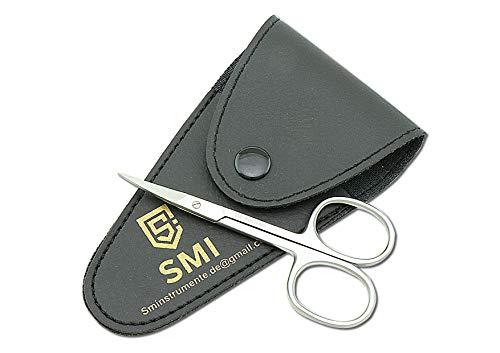 SMI - Hautschere Nagelschere Nagelhautschere feine spitze für präzises schneiden Nagelhautschneider gebogene feine Spitze hochwertiger Edelstahl - 9,5 cm, Silber Satz von 15 Stück