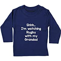 Hippowarehouse Shhh… I'm Watching Rugby With My Grandad Baby Unisex t-Shirt Long Sleeve