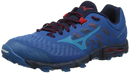 Mizuno Wave Hayate 5, Zapatillas de Trail Running para Hombre, Bleu Rouge, 45 EU