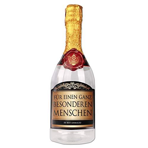 Multionline Sekt-Flasche zum selber Befüllen - das Geschenk für einen ganz besonderen Menschen zu Weihnachten, Geburtstag, Valentinstag usw.
