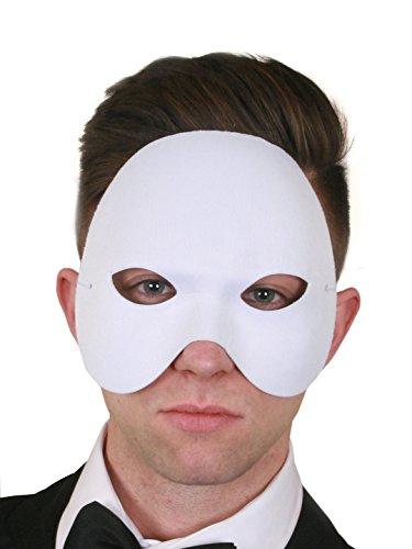 Oper Phantom Dress Kostüm Der Fancy - ILOVEFANCYDRESS Phantom HALB Gesichtsmaske TOLL FÜR Fasching ODER Masken Ball OPER Maske=12 WEIßE Masken