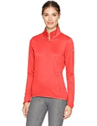 Nike thermal 1/2Zip–Top à manches longues pour femme, couleur vert