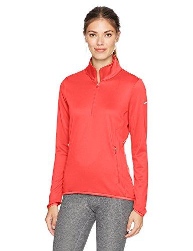Nike Thermal 1/2 Zip – Top à Manches Longues pour Femme, Couleur Vert