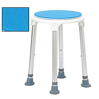 Portable Rounded Bath/Shower Stool with Rotating Seat Padding Non-slip Bathtub Lift Chair Aluminum Frame + PE Elderly Disabled Handicapped Transfer Aid