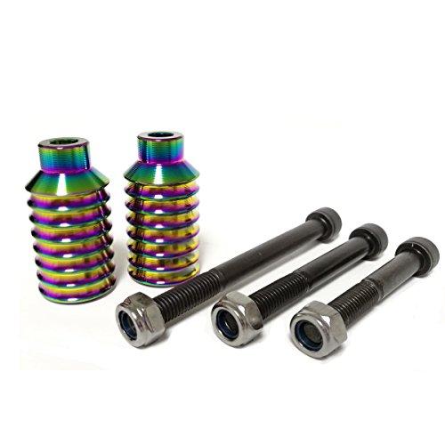 Pro Scooter Pegs CNC Aluminium-Pegs für Stunt-Scooter mit Hardware, regenbogenfarben
