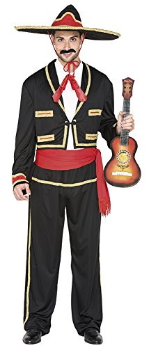 - Größe 52 (L), Sombrero Mariachi (Männer Mariachi-halloween-kostüm)