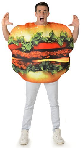 Kostüm Hamburger - Burger Adults Fancy Dress Fun Food Cheeseburger Hamburger Mens Ladies Costume