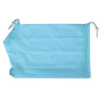 Drgger Sac de toilettage pour Chat - Sac de Maillot de Bain pour toilettage pour Chat, Ongles lavants pour Douche Outil de Nettoyage pour Oreille de Coupe (Bleu Rouge et Jaune) (Color : Blue)