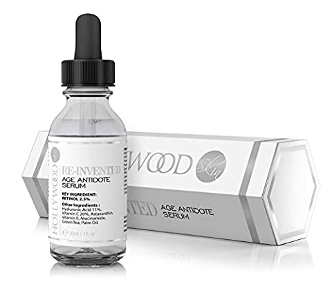 2.5% Retinol serum–4x STRONGER than regular anti-aging and acne treatments. With 11% Hyaluronic Acid and 20% Vitamin C, highest strength.