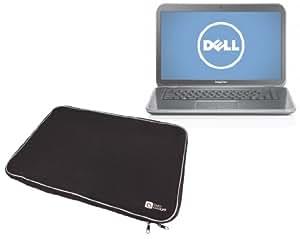 """DURAGADGET Housse PC ordinateur portable / notebook/ netbook / UMPC en néoprène noir résistant à l'eau - garantie 5 ans - pour Dell Inspiron 15R 15.6"""" HD"""