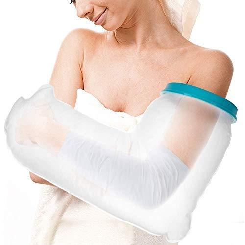 Doact Erwachsenen-Gipsschutz Kompletter Arm Wasserdicht,Gipsschutzhand wasserdichter Armprotektor, Gipschutz Duschschutz für Duschschutz Hand, Wasserdichte Verband, Erwachsene (63.5 cm)